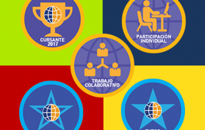 Cuadro con insignias digitales utilizadas en e-learning