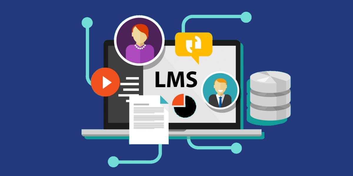 Ilustración de una plataforma de e-learning